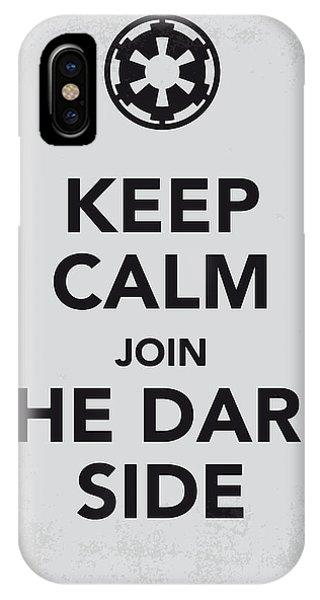 Nerd iPhone Case - My Keep Calm Star Wars - Galactic Empire-poster by Chungkong Art