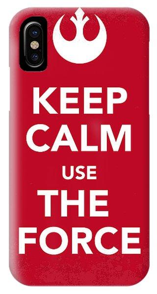 Modern iPhone Case - My Keep Calm Star Wars - Rebel Alliance-poster by Chungkong Art