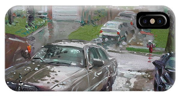Town iPhone Case - My Lincoln In The Rain by Ylli Haruni
