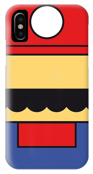 Castle iPhone X / XS Case - My Mariobros Fig 01 Minimal Poster by Chungkong Art