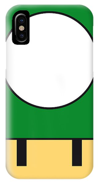 Castle iPhone X / XS Case - My Mariobros Fig 05b Minimal Poster by Chungkong Art