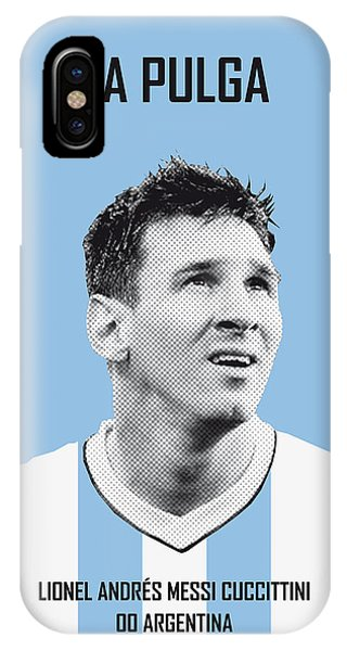 Soccer iPhone Case - My Messi Soccer Legend Poster by Chungkong Art