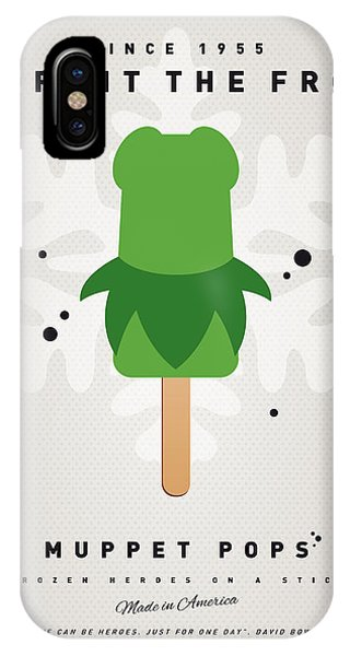 Amphibians iPhone Case - My Muppet Ice Pop - Kermit by Chungkong Art