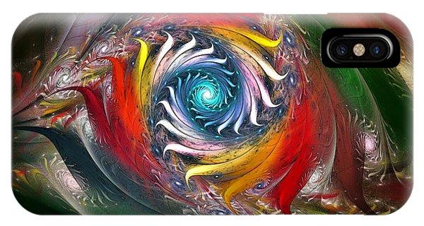 Fractal Landscape iPhone Case - My My Beautiful Laundrette-fractal Art by Karin Kuhlmann