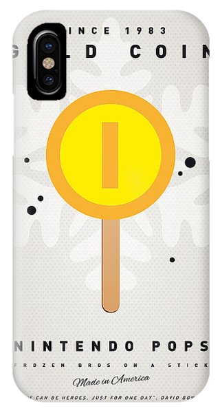 Peach iPhone Case - My Nintendo Ice Pop - Gold Coin by Chungkong Art