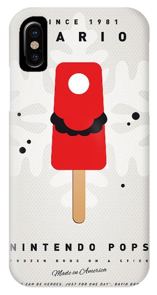 Peach iPhone Case - My Nintendo Ice Pop - Mario by Chungkong Art