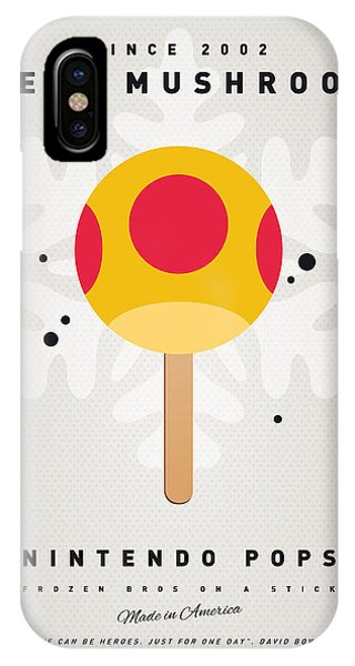 Peach iPhone Case - My Nintendo Ice Pop - Mega Mushroom by Chungkong Art