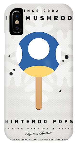 Peach iPhone Case - My Nintendo Ice Pop - Mini Mushroom by Chungkong Art