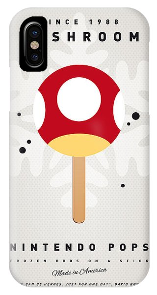 Peach iPhone Case - My Nintendo Ice Pop - Mushroom by Chungkong Art