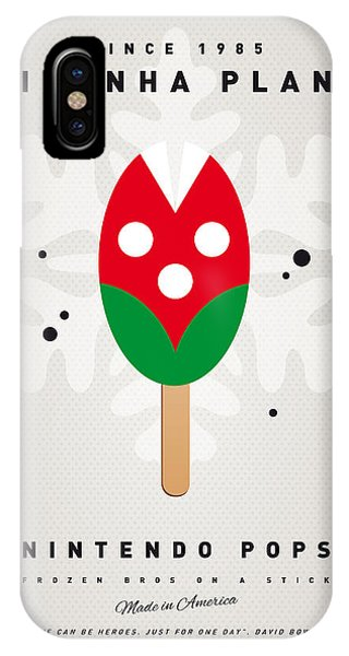 Peach iPhone Case - My Nintendo Ice Pop - Piranha Plant by Chungkong Art