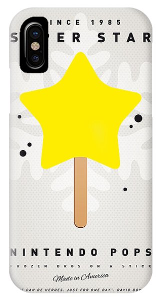 Peach iPhone Case - My Nintendo Ice Pop - Super Star by Chungkong Art