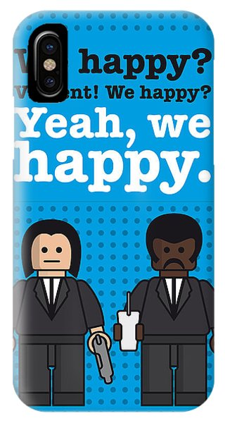 Hit iPhone Case - My Pulp Fiction Lego Dialogue Poster by Chungkong Art