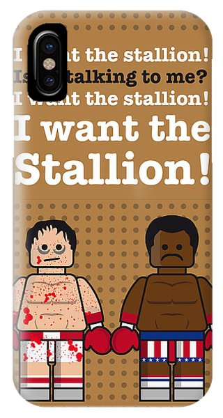 Rocky iPhone Case - My Rocky Lego Dialogue Poster by Chungkong Art