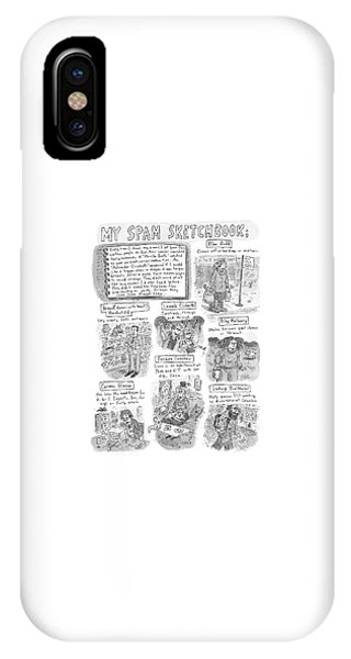 Debts iPhone Case - My Spam Sketchbook by Roz Chast
