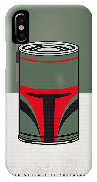 Tomato iPhone Case - My Star Warhols Boba Fett Minimal Can Poster by Chungkong Art