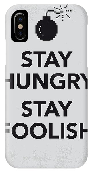 Change iPhone Case - My Stay Hungry Stay Foolish Poster by Chungkong Art