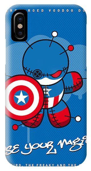 American iPhone Case - My Supercharged Voodoo Dolls Captain America by Chungkong Art
