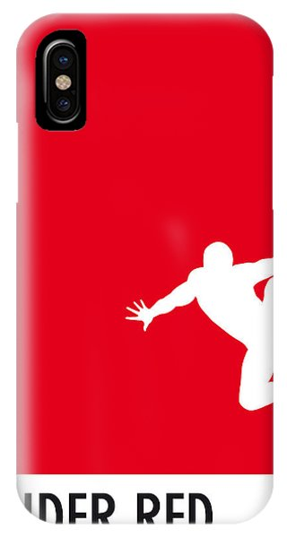 Movie iPhone Case - My Superhero 04 Spider Red Minimal Poster by Chungkong Art