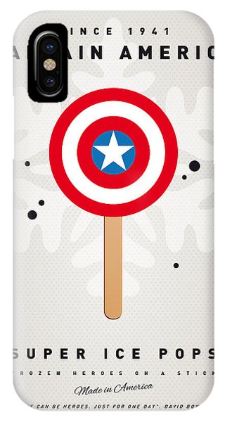 Hero iPhone Case - My Superhero Ice Pop - Captain America by Chungkong Art