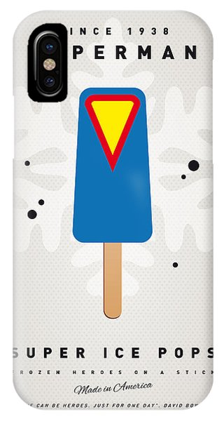 Ice iPhone Case - My Superhero Ice Pop - Superman by Chungkong Art