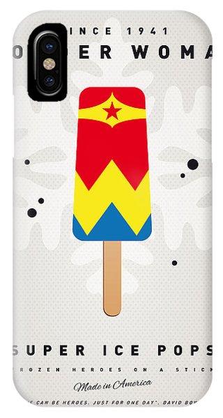 Comic iPhone Case - My Superhero Ice Pop - Wonder Woman by Chungkong Art