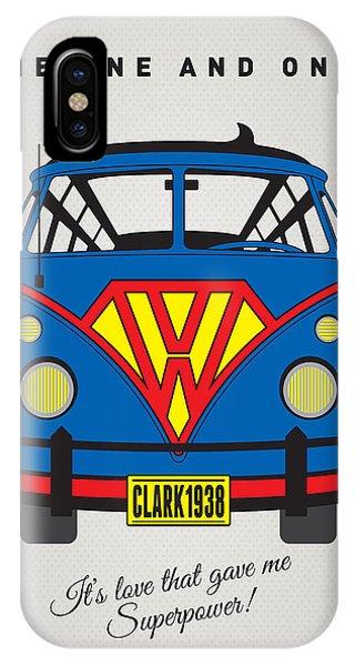 Superhero iPhone Case - My Superhero-vw-t1-superman by Chungkong Art