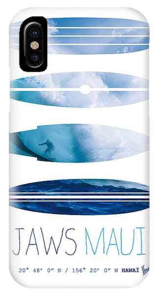 Bull Art iPhone Case - My Surfspots Poster-1-jaws-maui by Chungkong Art