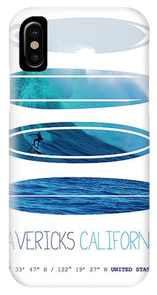 Bull Art iPhone Case - My Surfspots Poster-2-mavericks-california by Chungkong Art