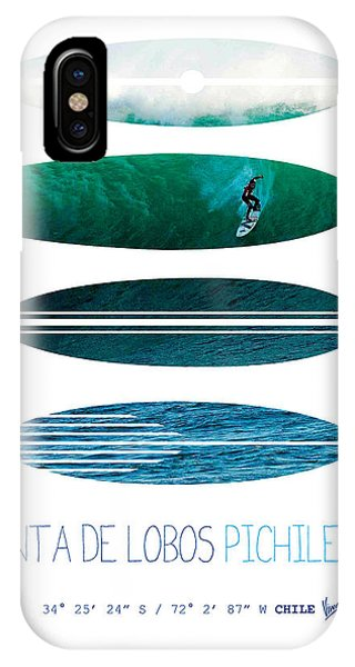 Bull Art iPhone Case - My Surfspots Poster-3-punta De Lobos-chile by Chungkong Art