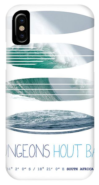 Bull Art iPhone Case - My Surfspots Poster-4-dungeons-cape-town-south-africa by Chungkong Art