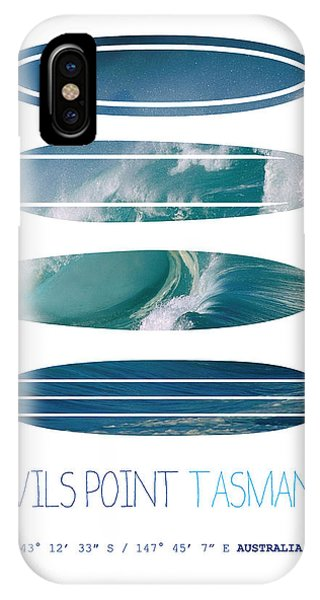 Bull Art iPhone Case - My Surfspots Poster-5-devils-point-tasmania by Chungkong Art