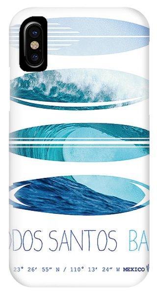 Surf iPhone Case - My Surfspots Poster-6-todos-santos-baja by Chungkong Art