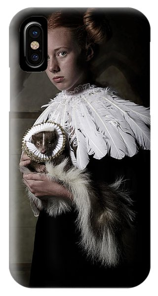 Feathers iPhone Case - My Sweet Skunk Friens by Carola Kayen-mouthaan