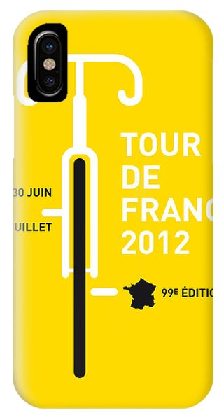 Bike iPhone Case - My Tour De France 2012 Minimal Poster by Chungkong Art