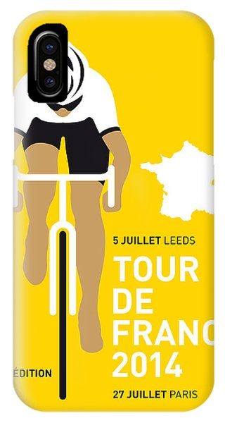 Bicycle iPhone X Case - My Tour De France Minimal Poster 2014 by Chungkong Art