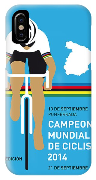 Modern iPhone Case - My Uci Road World Championships Minimal Poster 2014 by Chungkong Art
