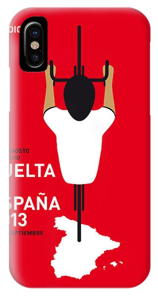 Bike iPhone Case - My Vuelta A Espana Minimal Poster - 2013 by Chungkong Art