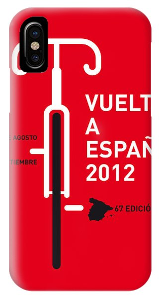Free iPhone Case - My Vuelta A Espana Minimal Poster by Chungkong Art