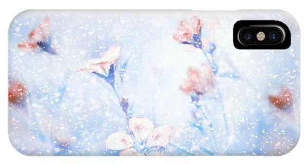 Soft iPhone Case - My Winter Garden by Delphine Devos