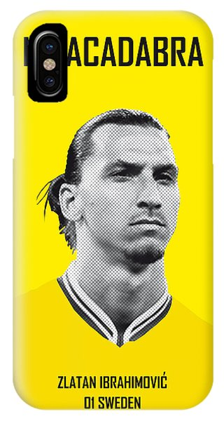 Soccer iPhone Case - My Zlatan Soccer Legend Poster by Chungkong Art
