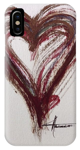 IPhone Case featuring the painting Myeloma Awareness Heart by Marian Palucci-Lonzetta
