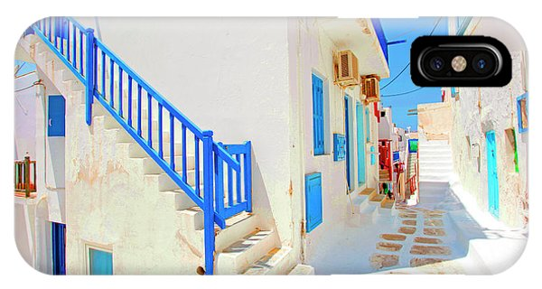 Village iPhone Case - Mykonos IIi (from The Series postcards From Greece) by Dieter Matthes