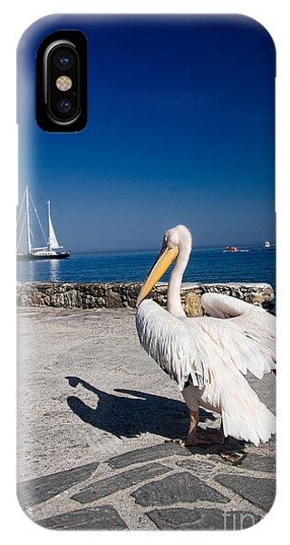 Greece iPhone X Case - Mykonos Pelican by David Smith