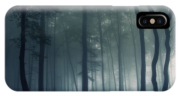 Mist iPhone Case - Mysterious Forest by Photocosma