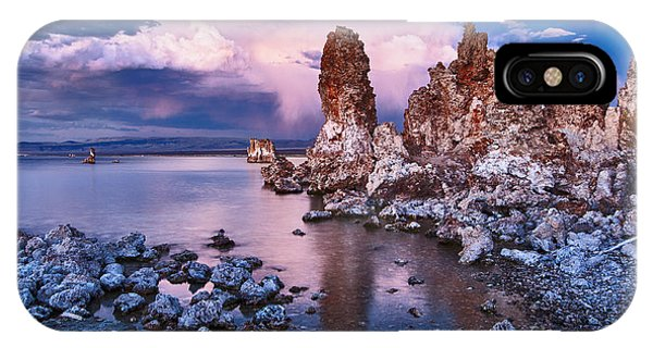 Strange iPhone Case - Mysterious Mono - Moonrise Night View Of The Strange Tufa Towers Of Mono Lake. by Jamie Pham