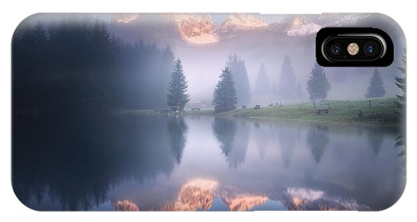 Reflection iPhone Case - Mysterious Morning By The Lake by Daniel ?e?icha
