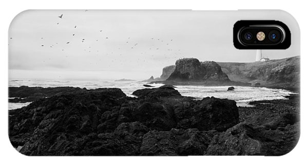 Basalt iPhone Case - Mysterious Yaquina Head by Mark Kiver