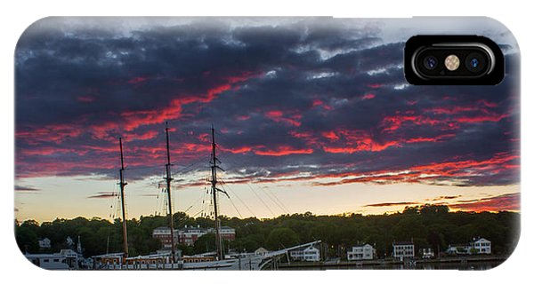 Mystic River Burning Sunset IPhone Case