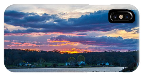 Mystic River Sunset IPhone Case