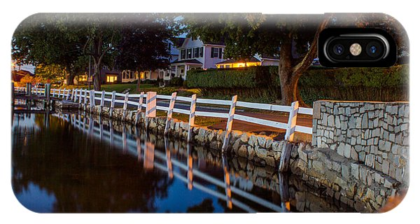 Mystic River Wall Reflection IPhone Case